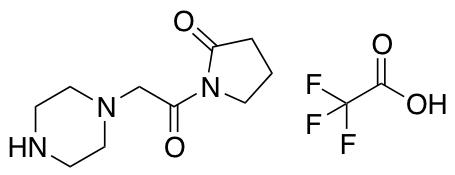 1-[2-(piperazin-1-yl)acetyl]pyrrolidin-2-one trifluoroacetic acid