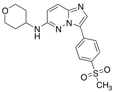 3-(4-Methanesulfonylphenyl)-N-(oxan-4-yl)imidazo[1,2-b]pyridazin-6-amine