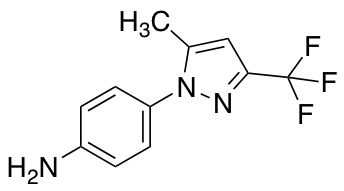 4-[5-Methyl-3-(trifluoromethyl)-1H-pyrazol-1-yl]aniline