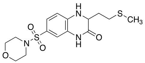 3-[2-(Methylsulfanyl)ethyl]-7-(morpholine-4-sulfonyl)-1,2,3,4-tetrahydroquinoxalin-2-one