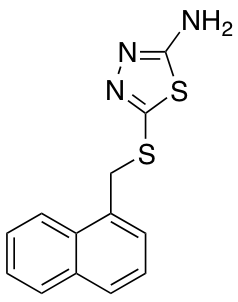 5-[(1-Naphthylmethyl)thio]-1,3,4-thiadiazol-2-amine