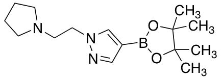 1-(2-(Pyrrolidin-1-yl)ethyl)-4-(4,4,5,5-tetramethyl-1,3,2-dioxaborolan-2-yl)-1H-pyrazole