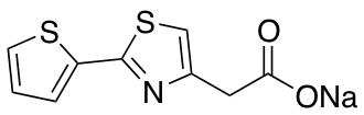 Sodium 2-[2-(Thiophen-2-yl)-1,3-thiazol-4-yl]acetate