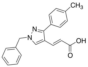 3-[1-Benzyl-3-(4-methylphenyl)-1H-pyrazol-4-yl]prop-2-enoic Acid