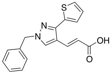 3-[1-Benzyl-3-(thiophen-2-yl)-1H-pyrazol-4-yl]prop-2-enoic Acid