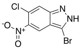 3-Bromo-6-chloro-5-nitro (1h)indazole