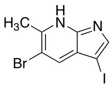 5-Bromo-3-iodo-6-methyl-7-azaindole