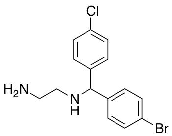 N-[(4-Bromophenyl)(4-chlorophenyl)methyl]ethane-1,2-diamine