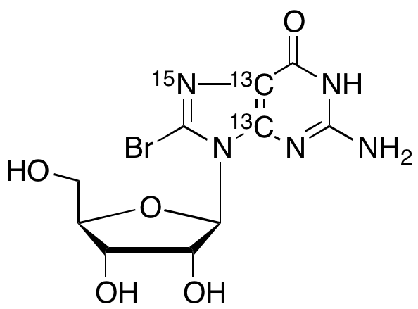 8-Bromoguanosine-13C2,15N