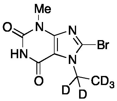 8-Bromo-7-ethyl-3,7-dihydro-3-methyl-1H-purine-2,6-dione-d5