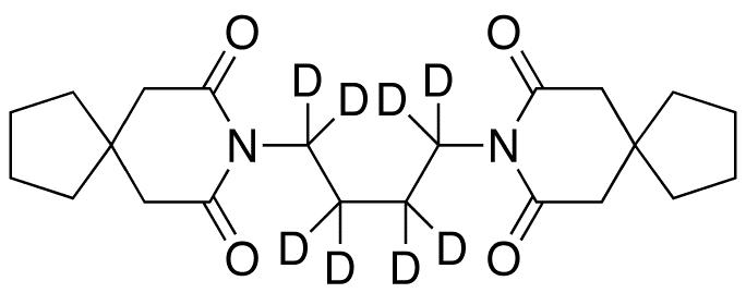 8,8'-(1,4-Butanediyl)bis-8-azaspiro[4.5]decane-7,9-dione-d8