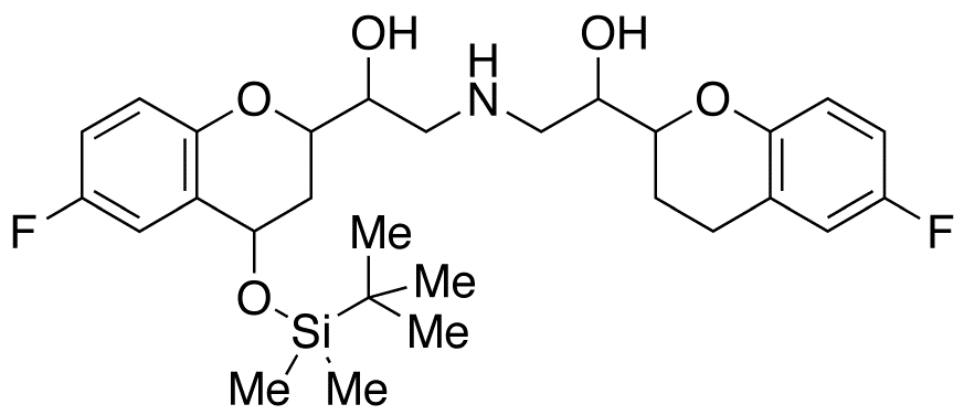 4-tert-Butyldimethylsilyloxy Nebivolol (Mixture of Diastereomers)