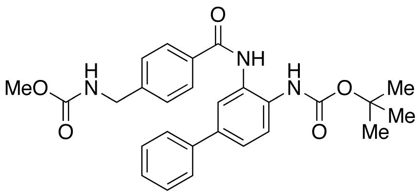 N-[[4-[[[4-[[tert-Butyloxycarbonyl]amino][1,1'-biphenyl]-3-yl]amino]carbonyl]phenyl]methyl]carbamic Acid Methyl Ester