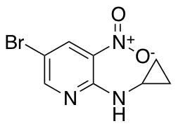 5-Bromo-2-cyclopropylamino-3-nitropyridine