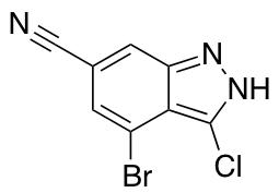 4-Bromo-3-chloro-6-cyano (1h)indazole