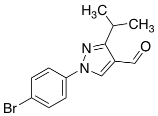 1-(4-Bromophenyl)-3-(propan-2-yl)-1H-pyrazole-4-carbaldehyde