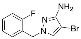 4-Bromo-1-(2-fluorobenzyl)-1H-pyrazol-3-amine