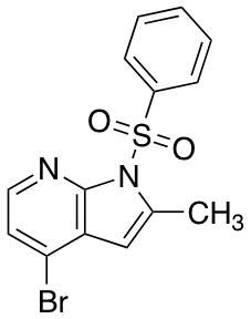4-Bromo-2-methyl-1-(phenylsulfonyl)-1H-pyrrolo[2,3-b]pyridine