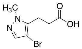 3-(4-Bromo-1-methyl-1H-pyrazol-5-yl)propanoic Acid