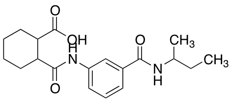 2-({3-[(sec-Butylamino)carbonyl]anilino}carbonyl)-cyclohexanecarboxylic Acid