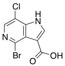 4-Bromo-7-chloro-5-azaindole-3-carboxylic Acid