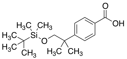 4-[1-[tert-Butyl(dimethyl)silyl]oxy-2-methylpropan-2-yl]benzoic Acid