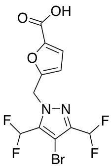 5-{[4-Bromo-3,5-bis(difluoromethyl)-1H-pyrazol-1-yl]methyl}-2-furoic Acid