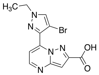 7-(4-Bromo-1-ethyl-1H-pyrazol-3-yl)pyrazolo[1,5-a]pyrimidine-2-carboxylic Acid