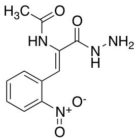 N-[1-(Hydrazinecarbonyl)-2-(2-nitrophenyl)eth-1-en-1-yl]acetamide