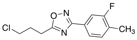 5-(3-Chloropropyl)-3-(3-fluoro-4-methylphenyl)-1,2,4-oxadiazole