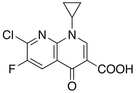 7-Chloro-1-cyclopropyl-6-fluoro-4-oxo-1,4-dihydro-[1,8]naphthyridine-3-carboxylic Acid