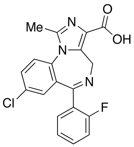8-Chloro-6-(2-fluorophenyl)-1-methyl-4H-Imidazo[1,5-a][1,4]benzodiazepine-3-carboxylic Acid