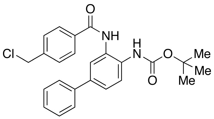 N-[3-[[4-(Chloromethyl)benzoyl]amino][1,1'-biphenyl]-4-yl]carbamic Acid tert-Butyl Ester
