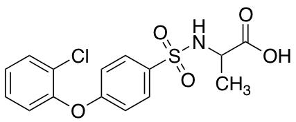 ((4-(2-Chlorophenoxy)phenyl)sulfonyl)alanine