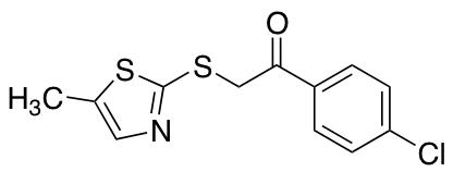 1-(4-Chlorophenyl)-2-[(5-methyl-1,3-thiazol-2-yl)sulfanyl]ethan-1-one