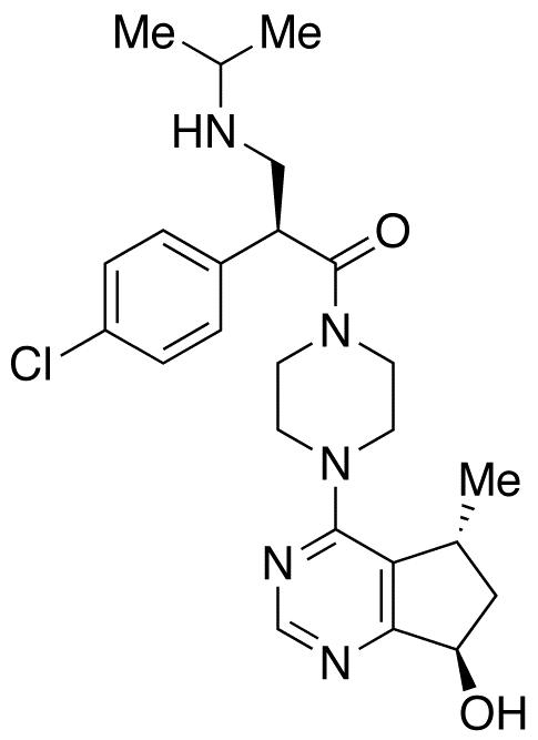 (2S)-2-(4-Chlorophenyl)-1-[4-[(5R,7R)-6,7-dihydro-7-hydroxy-5-methyl-5H-cyclopentapyrimidin-4-yl]-1-piperazinyl]-3-[(1-methylethyl)amino]-1-propanone