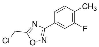 5-(Chloromethyl)-3-(3-fluoro-4-methylphenyl)-1,2,4-oxadiazole