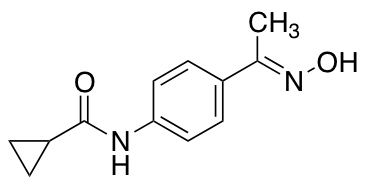 N-{4-[1-(hydroxyimino)ethyl]phenyl}cyclopropanecarboxamide