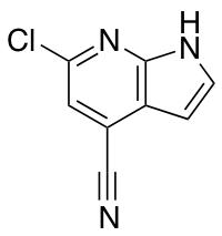 4-Cyano-6-chloro-7-azaindole
