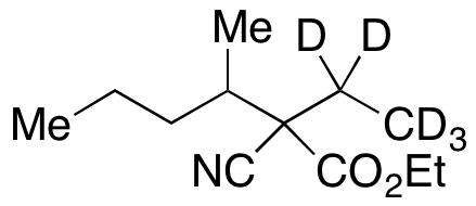 2-Cyano-2-ethyl-3-methylhexanoic Acid Ethyl Ester-d5
