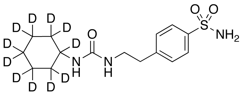 1-Cyclohexyl-3-(p-sulfamoylphenethyl)urea-d11