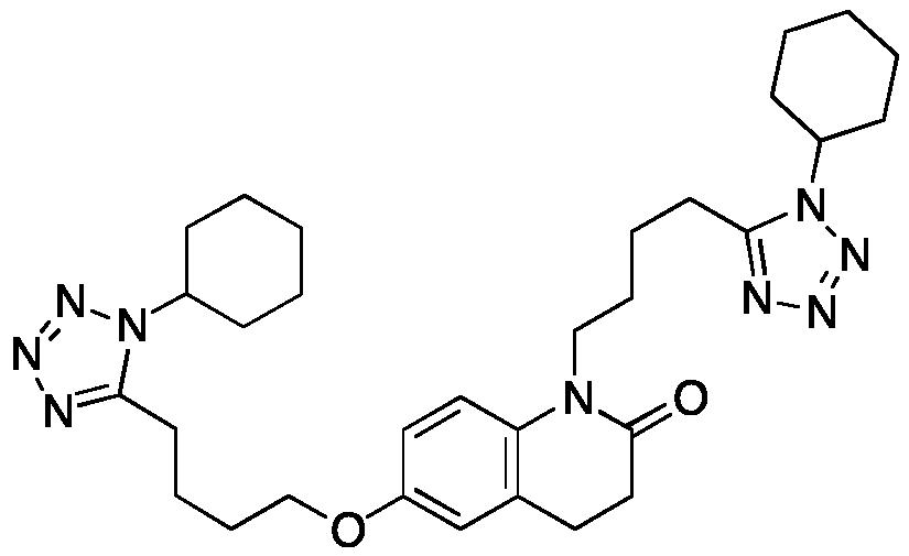 6-[4-(1-Cyclohexyl-1H-tetrazol-5-yl)butoxy]-1-[4-(1-cyclohexyl-1H-tetrazol-5-yl)butyl]-3,4-dihydro-2(1H)-quinolinone