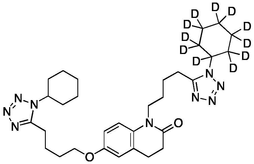 6-[4-(1-Cyclohexyl-1H-tetrazol-5-yl)butoxy]-1-[4-(1-cyclohexyl-1H-tetrazol-5-yl)butyl]-3,4-dihydro-2(1H)-quinolinone-d11