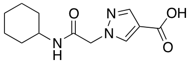 1-[2-(Cyclohexylamino)-2-oxoethyl]-1H-pyrazole-4-carboxylic Acid