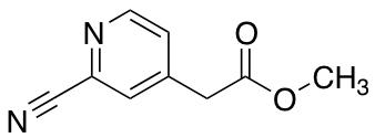2-Cyano-4-pyridine Acetic Acid Methyl Ester