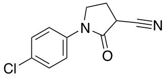 1-(4-Chlorophenyl)-2-oxo-3-pyrrolidinecarbonitrile