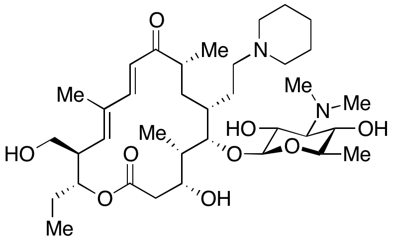 20-Deoxo-5-O-[3,6-dideoxy-3-(dimethylamino)-β-D-glucopyranosyl]-20-(1-piperidinyl)tylonolide
