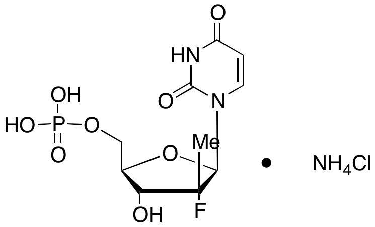 (2'R)-2'-Deoxy-2'-fluoro-2'-methyl-5'-uridylic Acid Ammonium Chloride Salt
