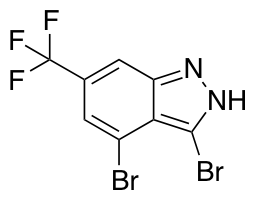 3,4-Dibromo-6-trifluoromethyl (1H)Indazole
