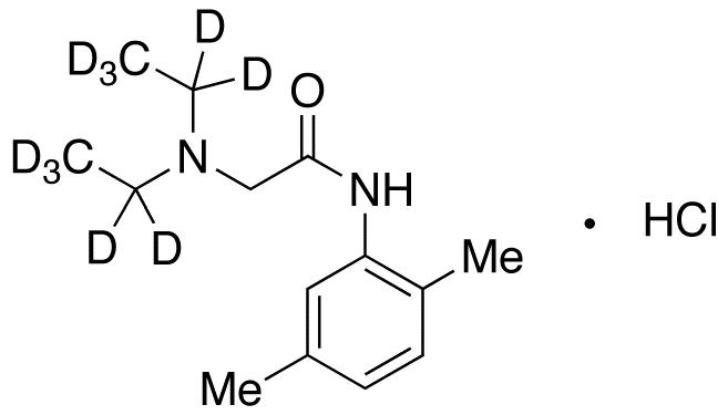 2-(Diethylamino)-N-(2,5-dimethylphenyl)acetamide-d10 Hydrochloride